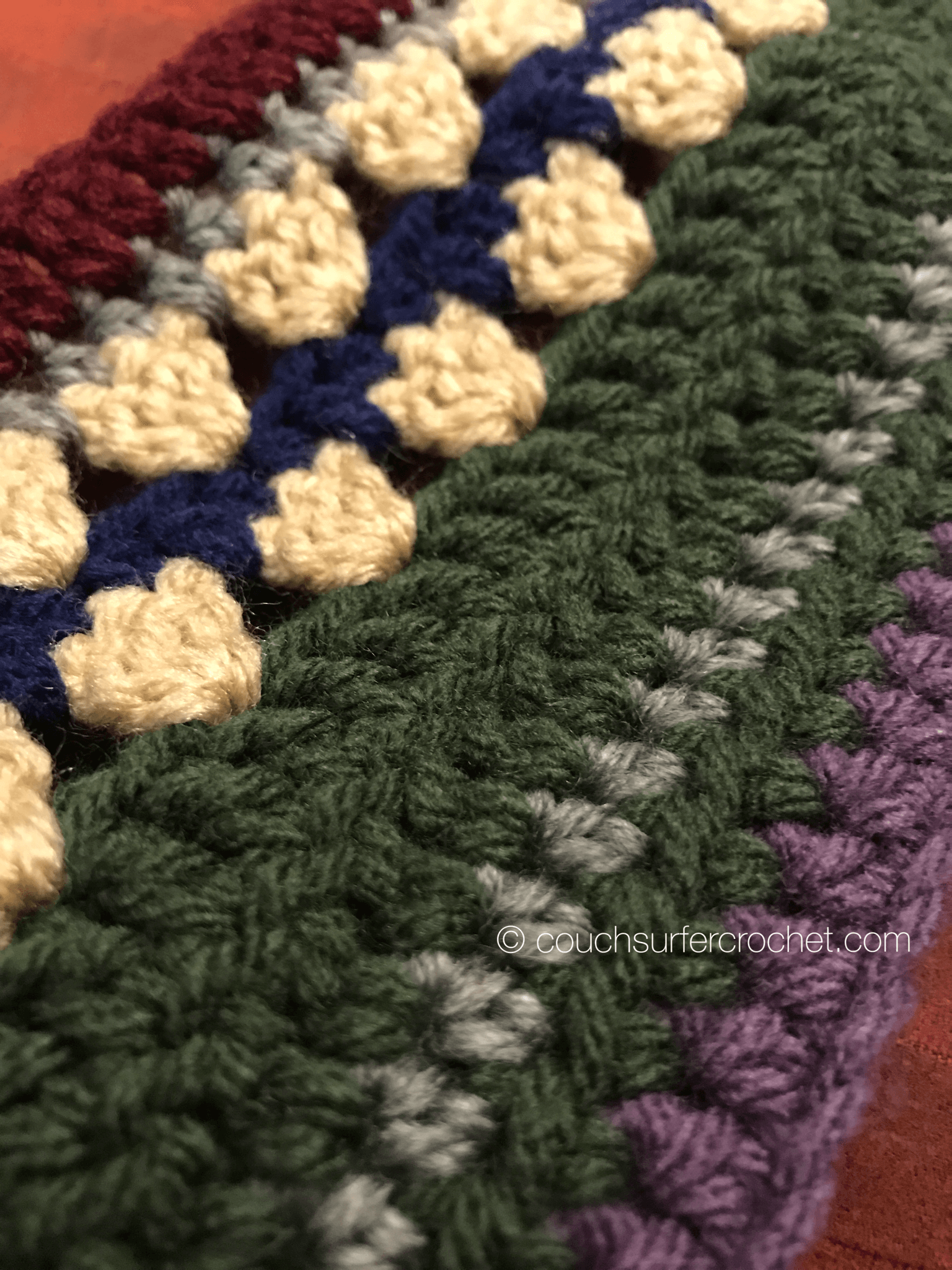 Mixed Stitch CAL - Week 1 - Couch Surfer Crochet