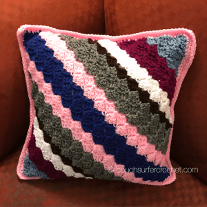 Corner To Corner C2c Pillow Cover Pattern Couch Surfer