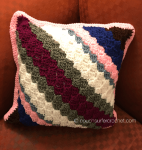 Corner to Corner (c2c) Pillow Cover Pattern - Couch Surfer Crochet