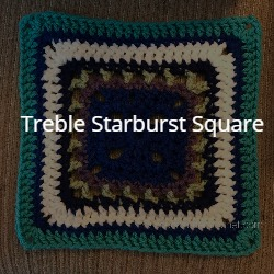 treble starburst square granny square crochet pattern