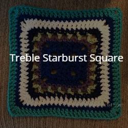 treble starburst square granny square crochet pattern