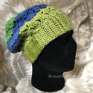 slouchy hat crochet pattern side saddle stitch