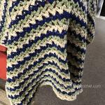 crochet three color baby blanket