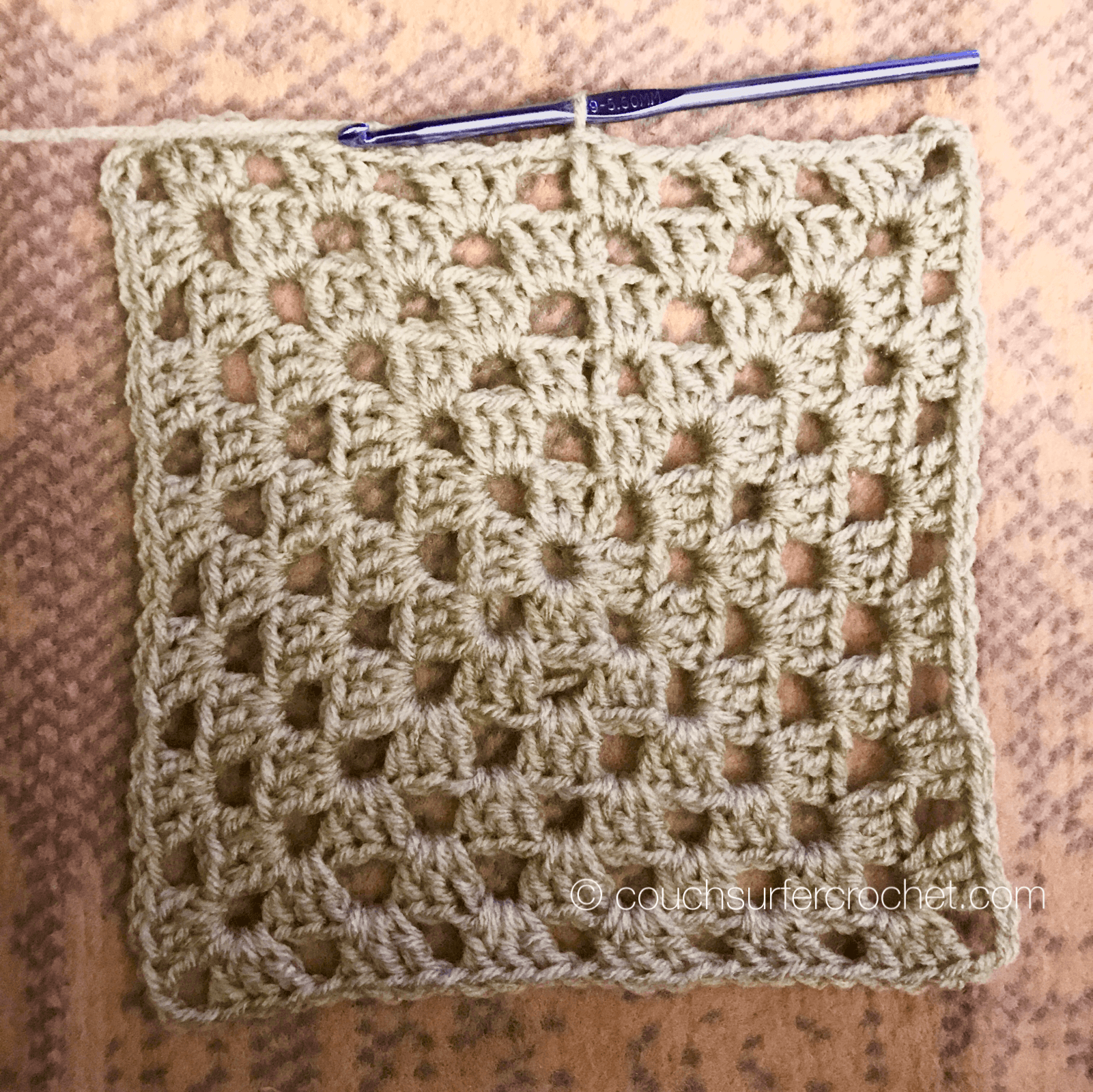 Basic Granny Square Tutorial Couch Surfer Crochet